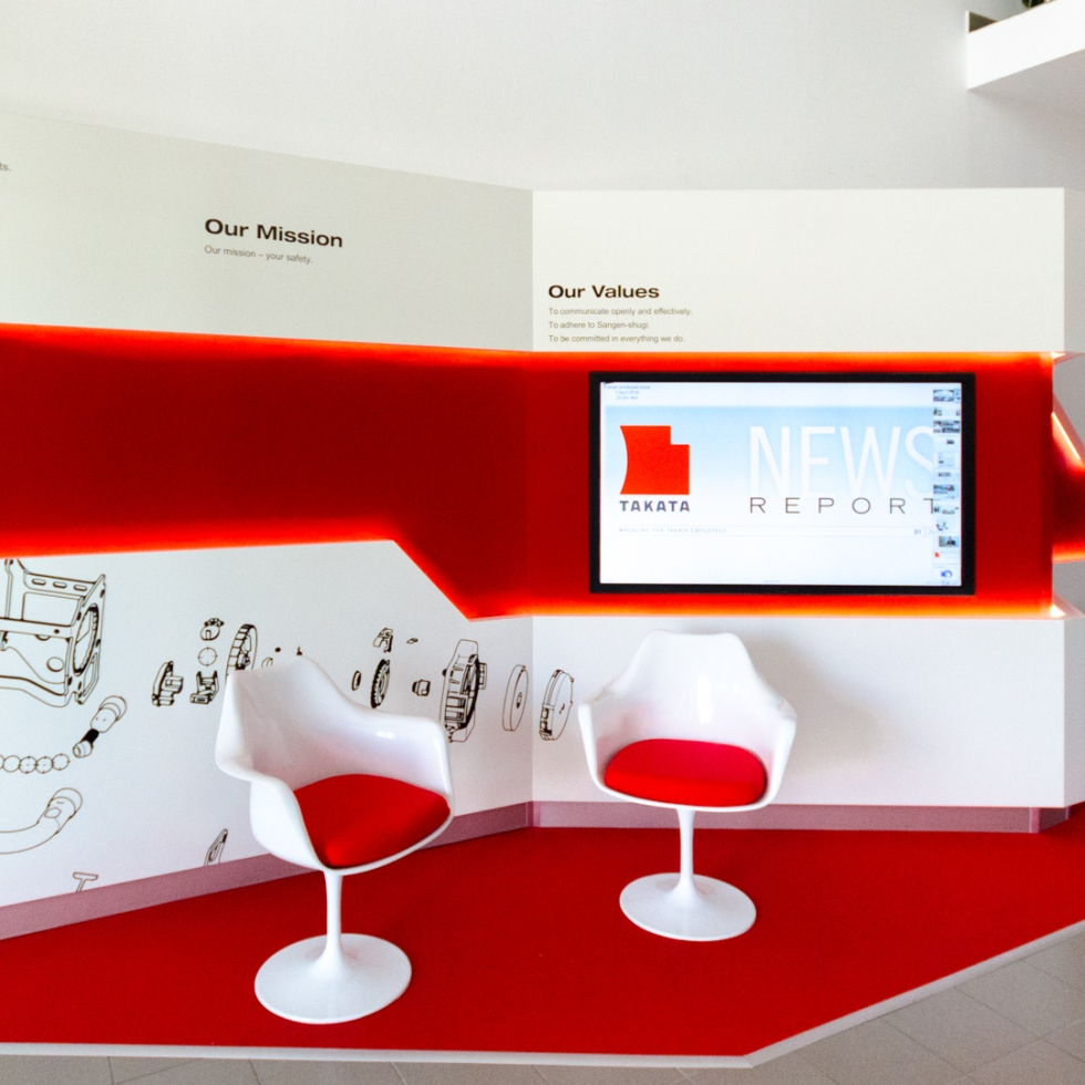 takata showroom automotive design