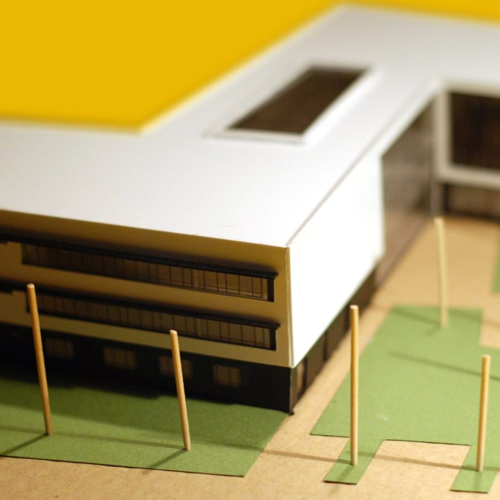 detaliu macheta arhitectura scoala