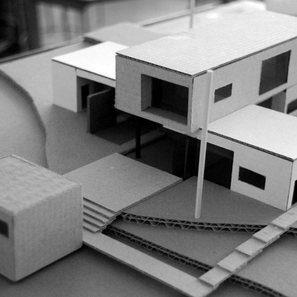 macheta carton locuinta minimalista