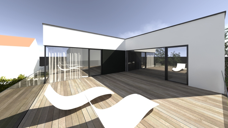 randare terasa casa modern minimalist timisoara