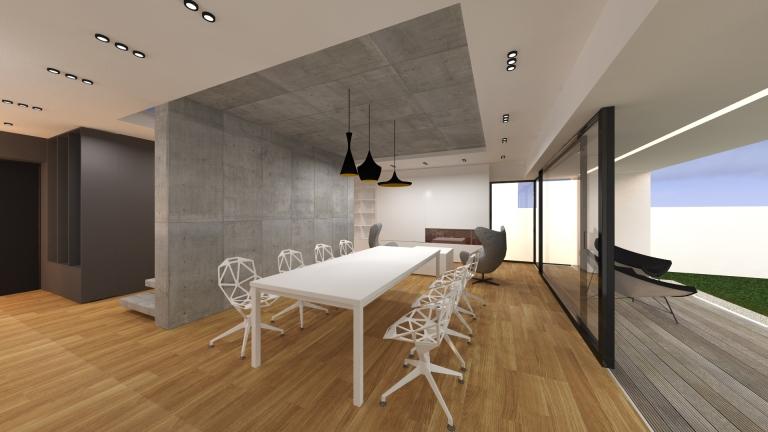 randare interioara casa modern minimalist timisoara