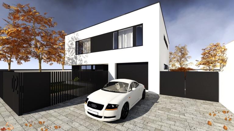randare acces strada casa modern minimalist timisoara