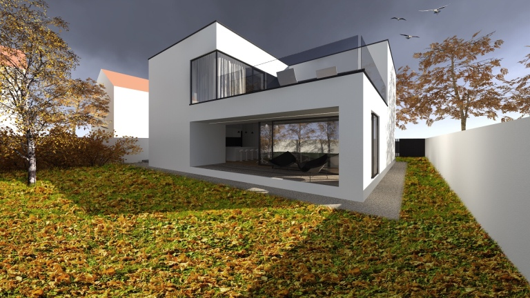 randare casa modern minimalist timisoara