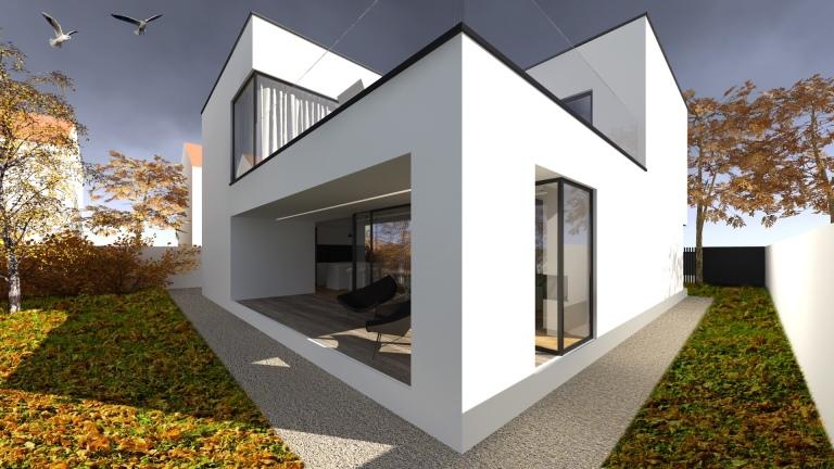 randare exterioara casa modern minimalist timisoara